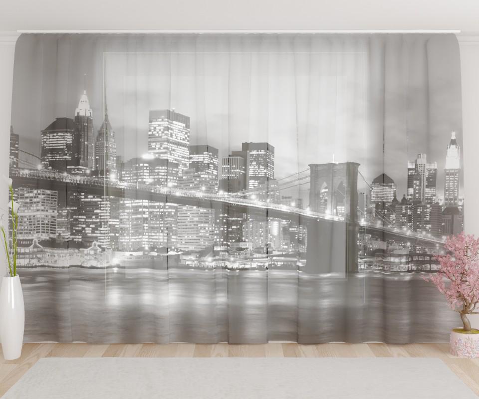 фототюль бруклинский мост черно белый фото набор карманов